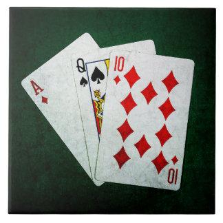 Blackjack 21 point - Ace, Queen, Ten Tile