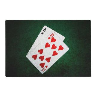 Blackjack 21 point - Ace, Ten Laminated Placemat