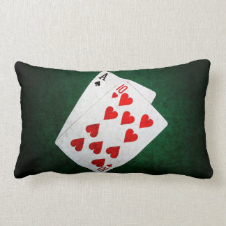 Blackjack 21 point - Ace, Ten Lumbar Pillow