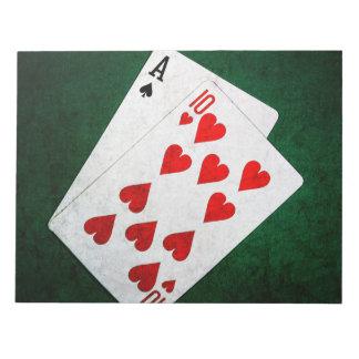 Blackjack 21 point - Ace, Ten Notepad