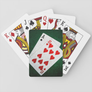 Blackjack 21 point - Ace, Ten Playing Cards