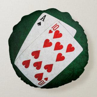 Blackjack 21 point - Ace, Ten Round Pillow