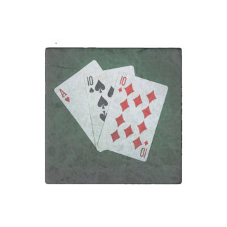 Blackjack 21 point - Ace, Ten, Ten Stone Magnet