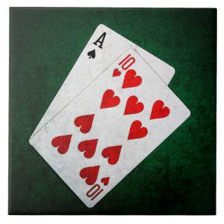 Blackjack 21 point - Ace, Ten Tile