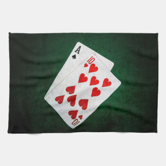 Blackjack 21 point - Ace, Ten Towel
