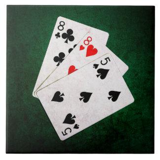Blackjack 21 point - Eight, Eight, Five Ceramic Tile