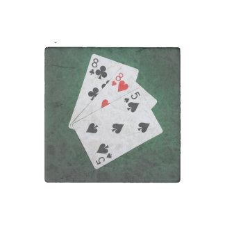 Blackjack 21 point - Eight, Eight, Five Stone Magnet