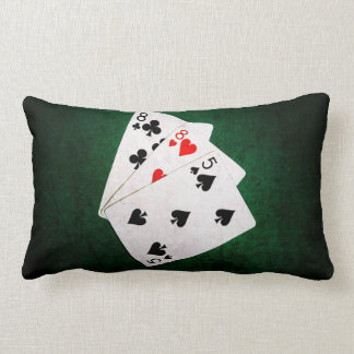 Blackjack 21 point - Eight, Eight, Five Lumbar Pillow