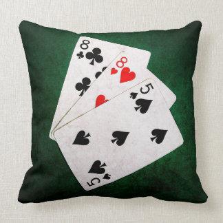 Blackjack 21 point - Eight, Eight, Five Throw Pillow