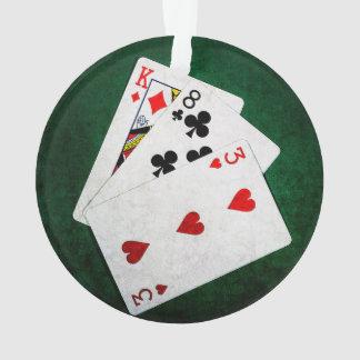 Blackjack 21 point - King, Eight, Three