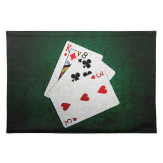 Blackjack 21 point - King, Eight, Three Cloth Placemat