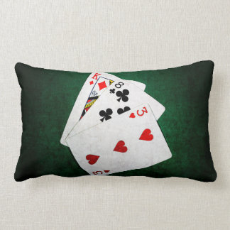 Blackjack 21 point - King, Eight, Three Lumbar Pillow