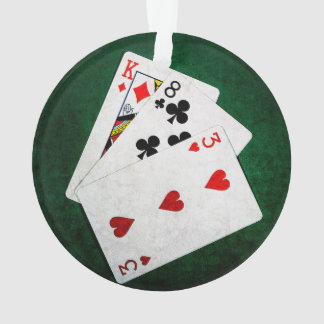 Blackjack 21 point - King, Eight, Three Ornament