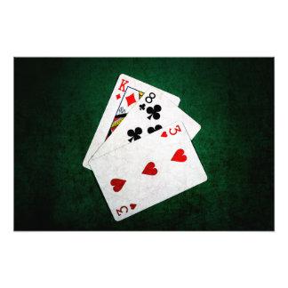 Blackjack 21 point - King, Eight, Three Photo Print