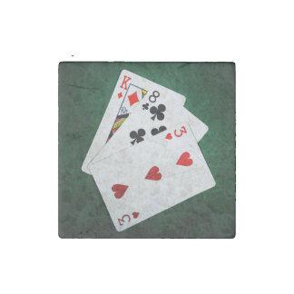 Blackjack 21 point - King, Eight, Three Stone Magnet