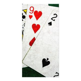 Blackjack 21 point - King, Nine, Two Card