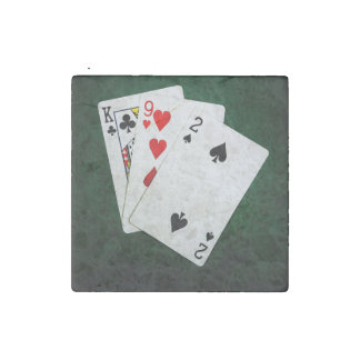 Blackjack 21 point - King, Nine, Two Stone Magnet
