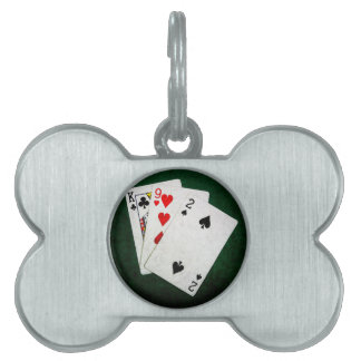 Blackjack 21 point - King, Nine, Two Pet ID Tag