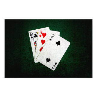 Blackjack 21 point - King, Nine, Two Photo Print