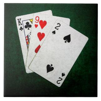 Blackjack 21 point - King, Nine, Two Tile
