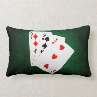Blackjack 21 point - Nine, Nine, Three Lumbar Pillow