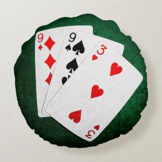Blackjack 21 point - Nine, Nine, Three Round Pillow
