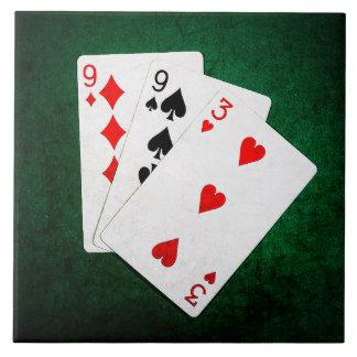Blackjack 21 point - Nine, Nine, Three Tile