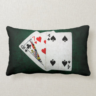 Blackjack 21 point - Queen, Seven, Four Lumbar Pillow