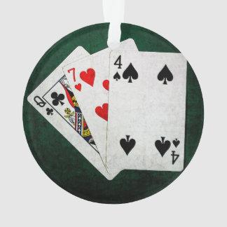 Blackjack 21 point - Queen, Seven, Four Ornament