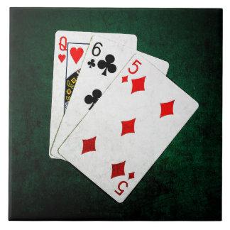Blackjack 21 point - Queen, Six, Five Ceramic Tile