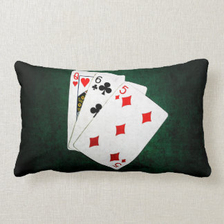 Blackjack 21 point - Queen, Six, Five Lumbar Pillow