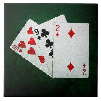 Blackjack 21 point - Ten, Nine, Two Ceramic Tile