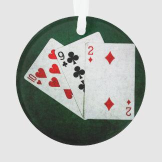 Blackjack 21 point - Ten, Nine, Two Ornament