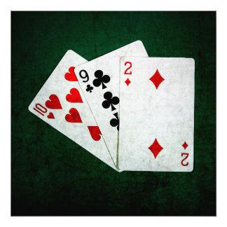 Blackjack 21 point - Ten, Nine, Two Photographic Print