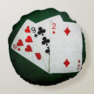 Blackjack 21 point - Ten, Nine, Two Round Pillow