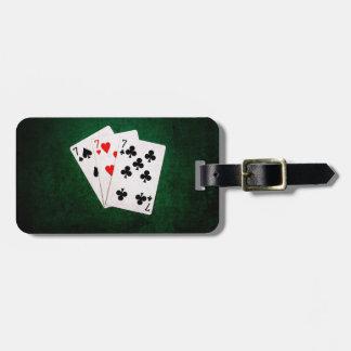 Blackjack 21 - Seven, Seven, Seven Luggage Tag