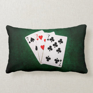 Blackjack 21 - Seven, Seven, Seven Lumbar Pillow