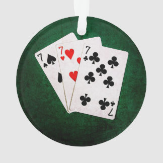 Blackjack 21 - Seven, Seven, Seven Ornament