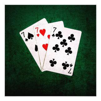 Blackjack 21 - Seven, Seven, Seven Photo Print