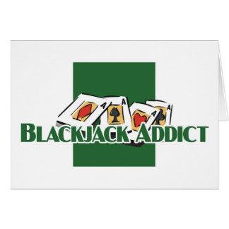 Blackjack addict's greetings card