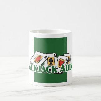 Blackjack Addict's white mug