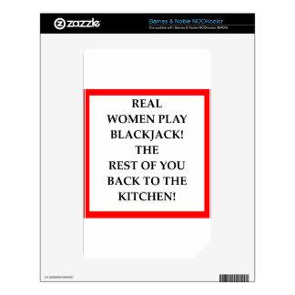 BLACKJACK DECALS FOR NOOK COLOR