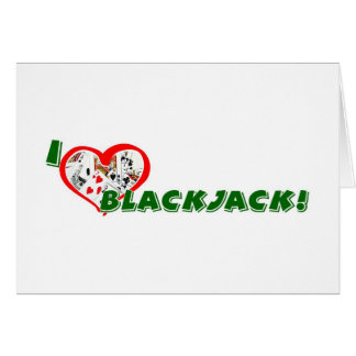 Blackjack greeting card