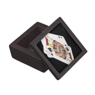 Blackjack Hand - Ace and Jack (3) Keepsake Box