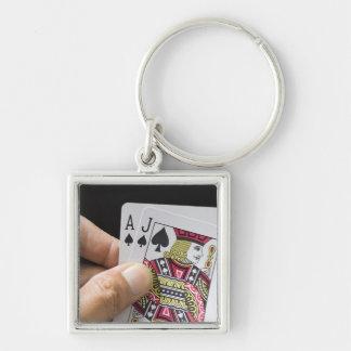 Blackjack keychain