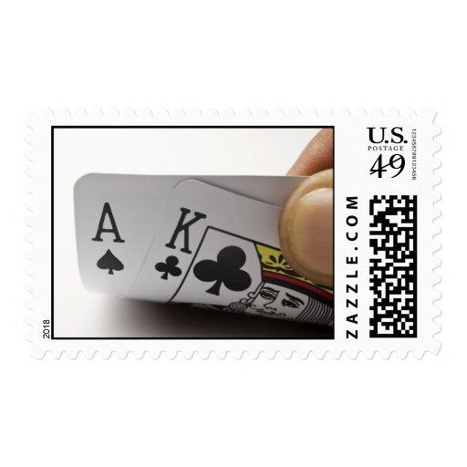 Blackjack Hand - Ace and King (3) Postage