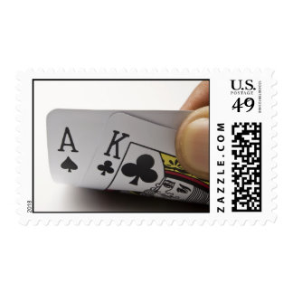 Blackjack Hand - Ace and King (3) Postage Stamps