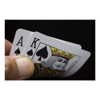 Blackjack Hand - Ace and King Poster