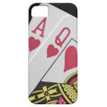 Blackjack Hand - Ace and Queen (3) iPhone 5 Cover