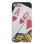 Blackjack Hand - Ace and Queen (3) iPhone 6 Case
